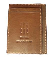 ILI  New York 7202 Genuine Leather ID / Card Wallet - Toffee