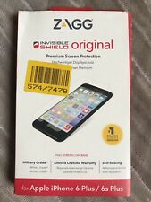Genuine ZAGG INVISIBLE SHIELD SCREEN PROTECTOR For Apple iPhone 6S+ (5.5) NEW