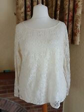 LADIES CREAM LACE FRONT TOP FROM NEXT - SIZE 20 - SUMMER  - BNWOT