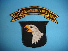 NAM WAR SET OF 2 US LONG RANGE PATROL + 101st AIRBORNE DIVISION patches
