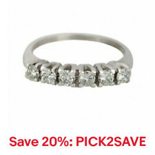 Women's 14K White Gold 0.72ctw Diamond 4mm Wedding Ring,20% off: PICK2SAVE
