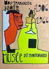 Jean-Michel ALBEROLA, MONTPARNASSE NOIR, LITHOGRAPHIE ORIGINALE SIGNEE NUMEROTEE