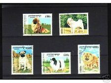 0932++CAMBODGE   SERIE TIMBRES  CHIENS  N°2