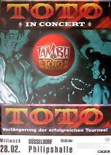 """TOTO TOUR POSTER / KONZERTPLAKAT """"TAMBU WORLD TOUR 95 / 96"""""""