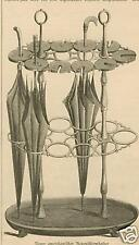 Amerikanischer Regenschirm/Regenschirmhalter von 1861