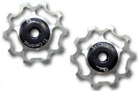OMNI Racer WORLDs LIGHTEST Ti Ceramic Derailleur Pulleys Record Chorus SILVER10t