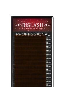 Seidenwimpern BISLASH, C Curl, Stärke 0.10, Dunkelbraun – Silk / Dark Brown