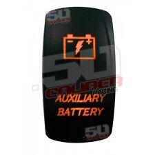 Orange 2 Way Rocker Switch On/Off Rocker Switch Auxiliary Battery Off Road Honda