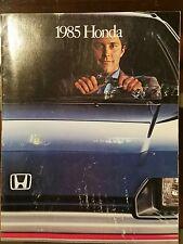 Factory Dealer Sales Brochure 1985 Honda Accord Civic Prelude
