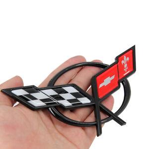 NEW Front Bumper Cross Flags Emblem Badge For 97-04 Chevrolet Corvette 19207384