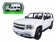 WELLY 1:24 W/B 2008 CHEVROLET TAHOE POLICE VERSION SOLID DIECAST CAR 22509 WHITE