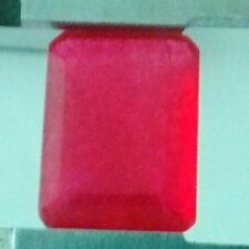 8CTS AMAZING RED NATURAL RUBY 14.3 x 11 mm LARGE EMERALD-CUT LOOSE GEMSTONES