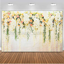 7/×5ft Background Wall Vinyl Rose Flower Blue Wooden Board Easy Storage and Portability Video Shooting Background Wall Art Background Background Photography Outdoor Wedding Photography Background