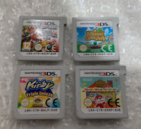 Lot of 4 Nintendo 3DS European Carts (Smash Bros Animal Crossing Kirby) EUR ONLY