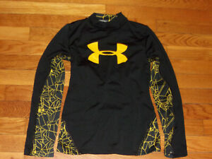 UNDER ARMOUR COLDGEAR LONG SLEEVE MOCK FITTED JERSEY BOYS MEDIUM 10-12 EXCELLENT
