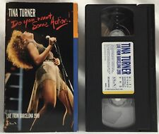 Tina Turner - Do You Want Some Action (VHS, 1991) Live From Barcelona 1990 RARE!