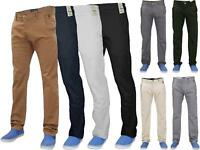 Men Chinos Regular Fit Jeans Cotton Stretch Casual Pants Trousers All Waist Size