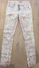 TOPSHOP MOTO Women's Faded Floral Print  Skinny Jeans - Size W 26 L32
