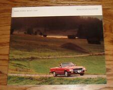 Original 1987 Mercedes Benz European Delivery Full Line Sales Brochure 87