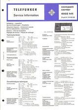 Telefunken Original Service Manual for Compact Center 6002 HiFi.