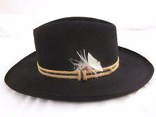 Vintage Stetson Gun Club 3X Beaver Black Fur Felt Cowboy Hat Size 7 81e53a6ca957