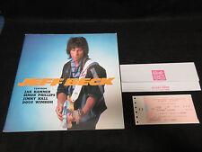 Jeff Beck 1986 Japan Tour Book with Ticket Stub Jan Hammer Program Yardbirds