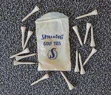 VINTAGE SPALDING Golf Tees and Bag