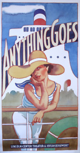 James McMullan 1987 Lincoln Center ANYTHING GOES Poster Patti LuPone Three Sheet