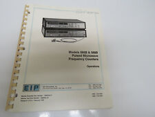 EIP 585B &588B Pulsed Counter Operation Manual