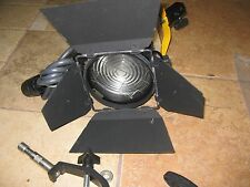 DeSisti Magis model 300 301 4.75 Fresnel Stage Light with barndoors and clamps