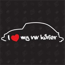 I love my VW Coccinelle ÉTIQUETTE ,Autocollant Shocker Voiture,Adhésif,