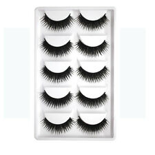 Bulk 5 Pairs Handmade Natural Long Thick False Fake Eyelashes Makeup Eye Lashes