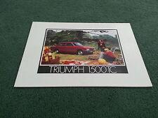 August 1974 / 1975 TRIUMPH 1500 - UK 16 PAGE BROCHURE