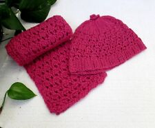 Alpaca/Silk Hand Knitted Girl'S Hat & Scarf Set~Soft, Warm, Lovely! Great Price!