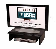 """X-LARGE BLACK TV RISER-Solid/Safe 30""""wide x 17""""deepx8""""high by Syracuse TV Risers"""