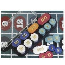 Poker Chips with Rack - Simulated Pearl 200 pcs.