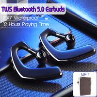 TWS Wireless bluetooth 5.0 Earphones Ear Hook Waterproof Earbuds Stereo