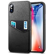 Apple iPhone XS 5.8 Case Wallet Card ID Holder Leather Pocket Cover Protector
