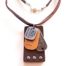 Unisex Modeschmuck-Halsketten & -Anhänger aus Leder Designer