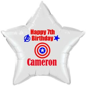 Captain America balloon PERSONALISED foil  Birthday Party Decoration