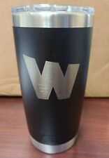 Yeti Rambler 20 oz Tumbler MagSlider Lid Matte Black with Logo New with Blemish