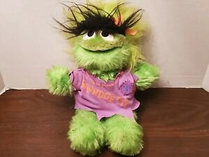 "Vintage Sesame Street Grundgetta Plush 13"" Applause RARE"