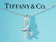 Tiffany & Co Elsa Peretti Alphabet Sterling Silver Letter Initial H Necklace