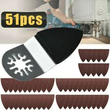 50x Finger Sanding Sheets Pads Paper Set For Oscillating Multi Tool Accessories