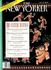 NEW YORKER MAGAZINE 15 OCT 2001 TOCQUEVILLE'S GUILTY PLEASURES, CULTURE ISSUE