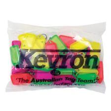 Key Tags Bag Of 50 MIXED Plastic KEVRON FLUORO Click Tags-FREE POST-ID38