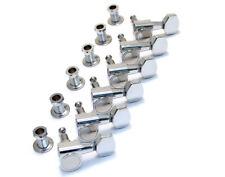 Genuine Fender/Squier Chrome 2-Pin 6-Inline Strat & Tele Guitar Tuners Machines