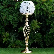 """2 pcs GOLD METAL 19.5"""" tall Candle Holder Vase Centerpiece Party Decorations"""