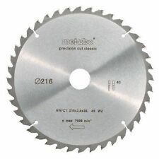 Metabo Kreissägeblatt mit Ct 216 X 30 Mm 40 WZ 5 Grad 628060000