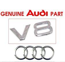 Genuine Audi V8 wing side badge decal emblem.  RS4 S5 A5 A6 A7 A8 TFSI OEM.  G2